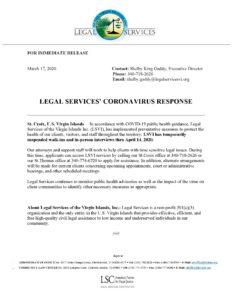 LSVI COVID-19 Press Release